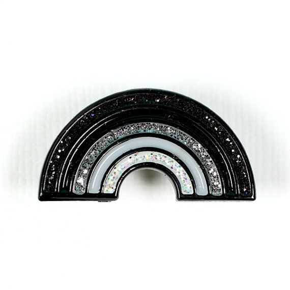 Black Rainbow Pin // Black Rainbow enamel pin, black enamel pin, rainbow, spooky // EP134