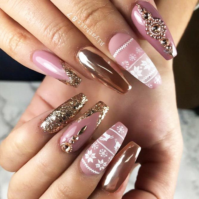 49 Unique And Beautiful Winter Nail Designs Christmas Nails
