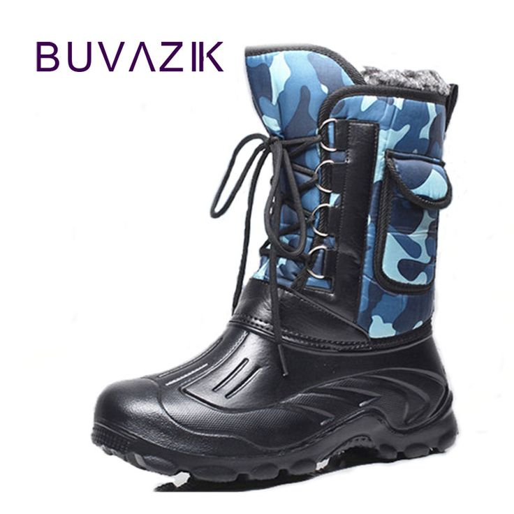 ==> [Free Shipping] Buy Best 2017 men's waterproof snow boots Non-slip rubber hard-wearing Soles Detachable Plus cotton warm winter men shoes szie 41-46 Online with LOWEST Price | 32820894982