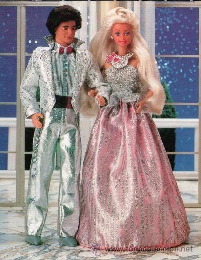 1986 BARBIE Y KEN JEWEL SECRETS FASHIONS caja del ken algo estropeada (Juguetes - Muñeca Extranjera Moderna - Barbie y Ken)