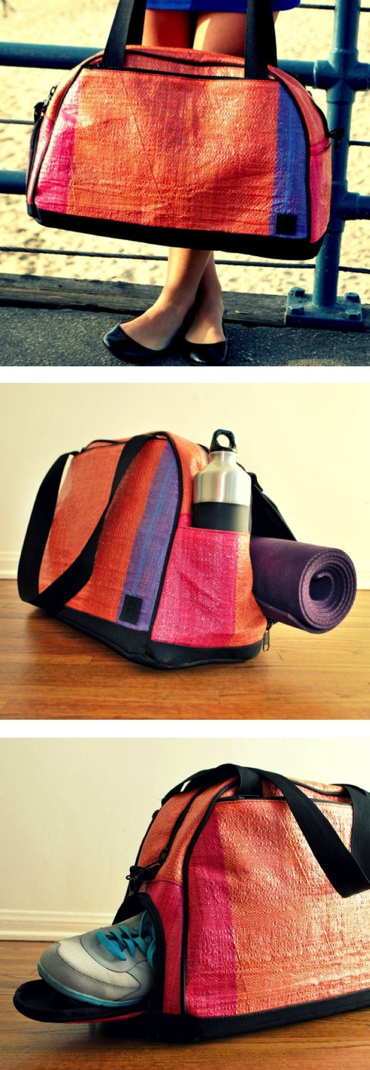 Activyst Gym Bag: Funds go buy gear for female runners in Ethiopia. Water-resistant and contains pockets for shoes, yoga mat, water bottle, electronics, and more. $138.00