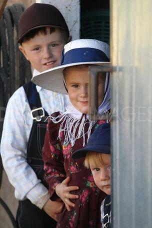 Charming Argentine Mennonite children ... Guatraché, La Pampa Province, Argentina