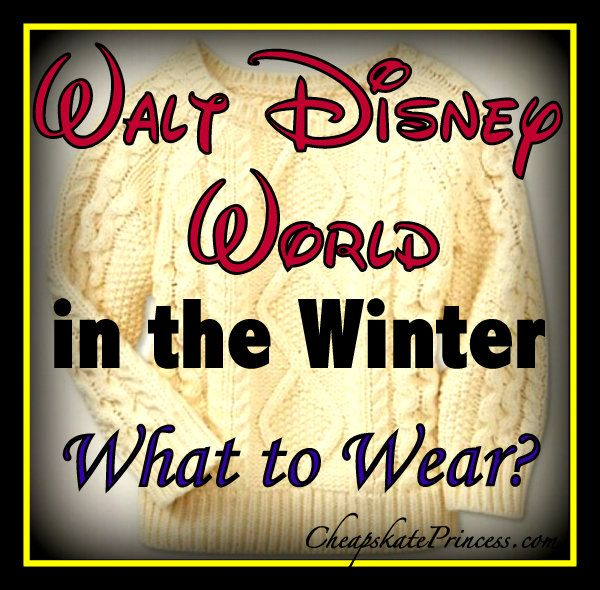 Items to bring to Disney World in winter - Great advice!  We were there in December and started the week in sweatshirts and long pants and ended up in tees and shorts!  (Love the idea of bringing a variety of clothes and layering)!