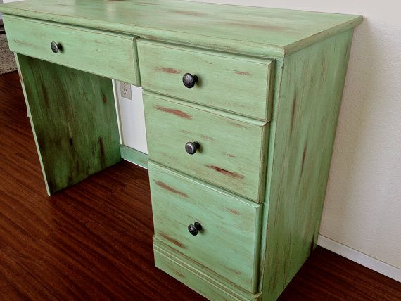 Affordable Sea Green Shabby Chic Distressed Desk Local By With Distressed  Desk.