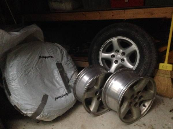 Jeep Cherokee or Wrangler Alloy Rims / Wheels and Tires – auto parts – by owner