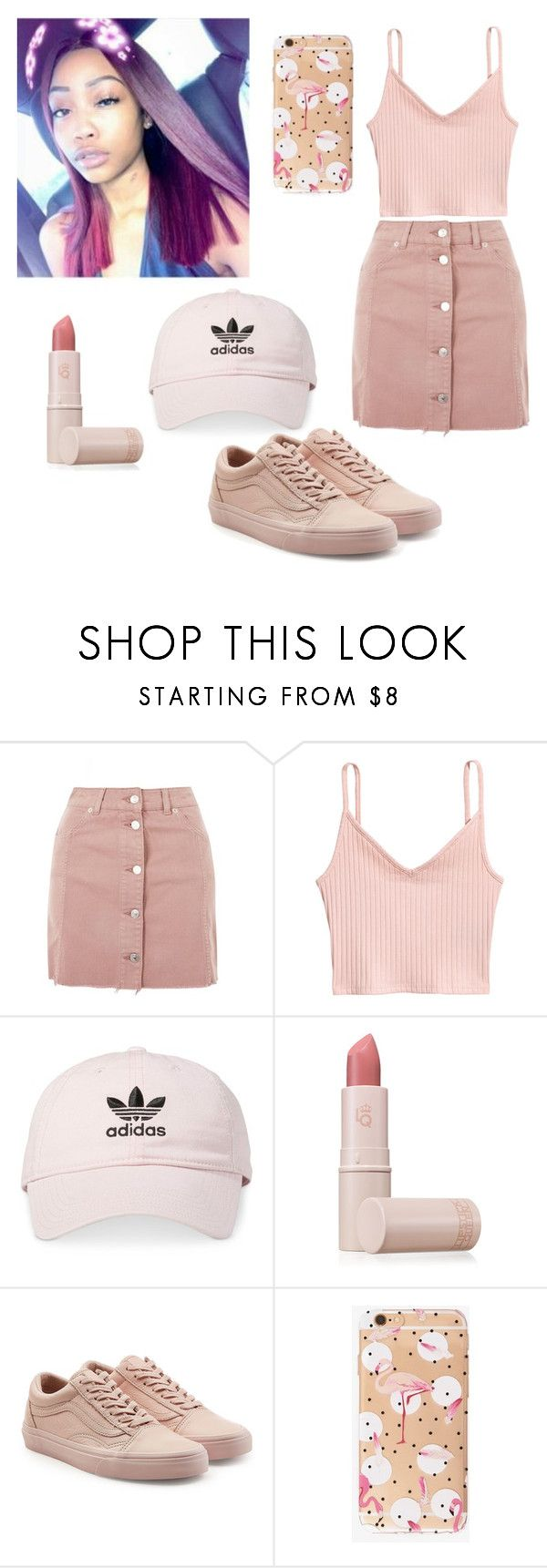 """Fresh off the boat'"" by majesticqveenn ❤ liked on Polyvore featuring Topshop, adidas, Lipstick Queen and Vans"