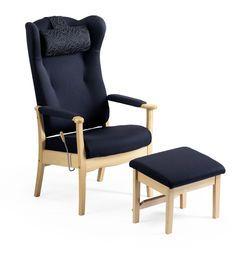 ERGO hvilestol leveres i heltre bjørk natur eller beiset i Hellands standard beisvarianter.