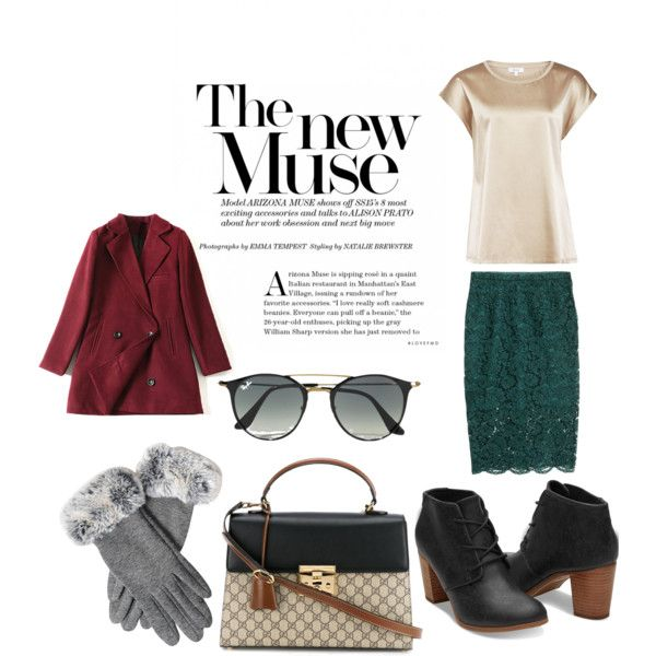 Cozy and elegant by rosemire on Polyvore featuring мода, Reiss, H&M, Gucci and Ray-Ban
