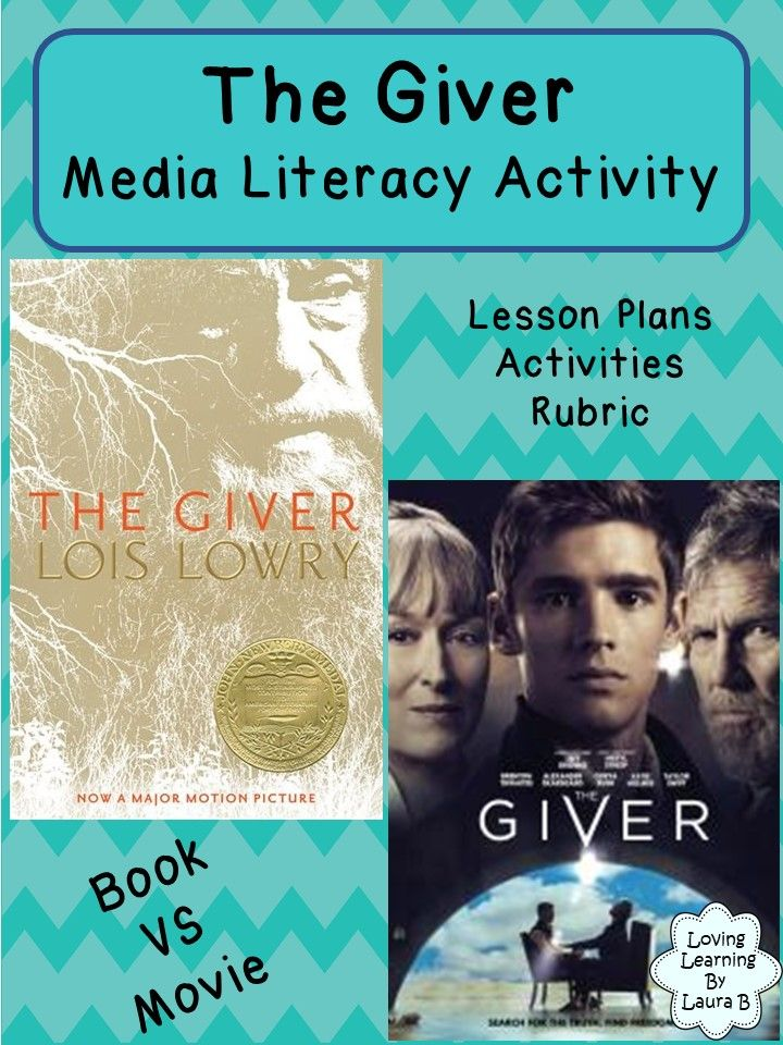 A resource for students to compare the movie and book versions of The Giver by Lois Lowry and integrates language, media, and visual arts.  This resource includes: Student workbook: -book vs movie character comparison -book vs movie setting comparison -book vs movie plot comparison -lesson plan suggestions  Create your own movie poster assignment: - outline of assignment - success criteria - movie post