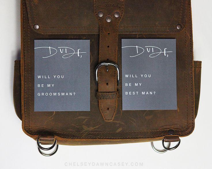 Dude will you be my best man, groomsman wedding card // Chelsey Dawn Casey