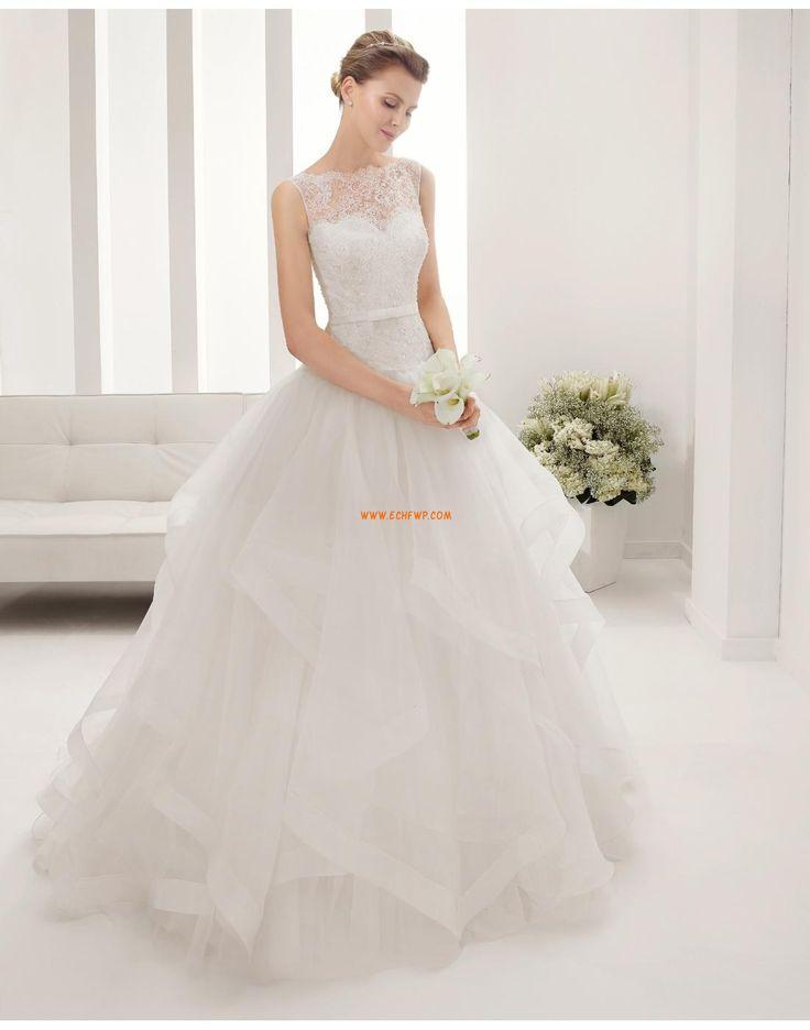 Hochzeitskleider mit Schal U-Ausschnitt KleiderfürHochzeitsempfang Brautkleider 2015
