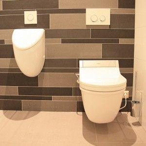 Toilet met urinoir