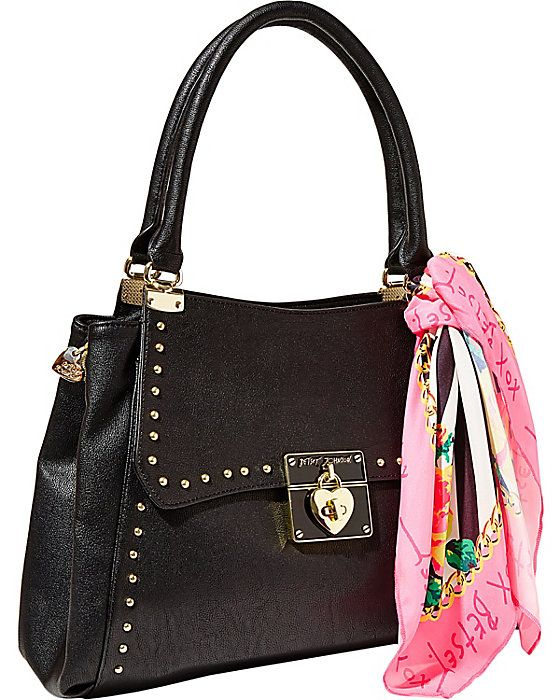 WRAP PARTY SATCHEL BLACK accessories handbags non leather satchels