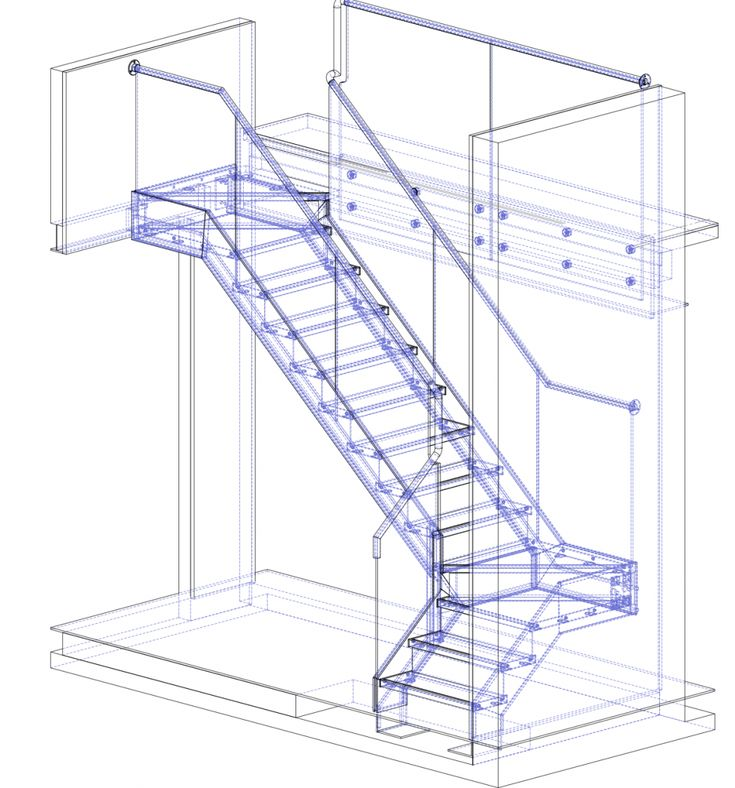 Stair Light Detail: Diagrams, Drawings & Models