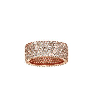 Look what I found on #zulily! Cubic Zirconia & Rose Gold Eternity Ring #zulilyfinds