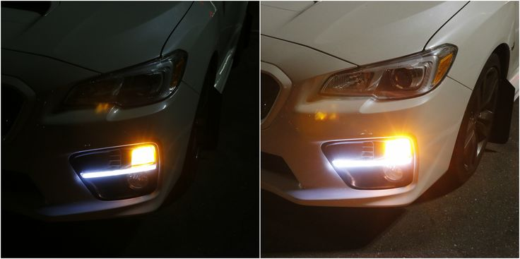 The LED daytime running light fog bezel for the 2015-2017 Subaru WRX and WRX STi is one of the brightest DRLs out there. This wonderfully integrated design adds a strip light in between your turn signals and fog lights for a more robust look on your Subaru sedan. Click through to learn more.