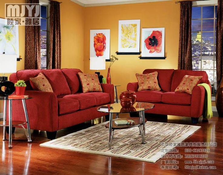 105 best images about living room red accents on Orange and red living room design