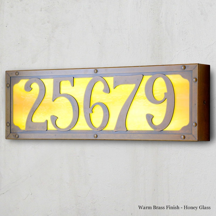 large willowglen drive illuminated house numbers