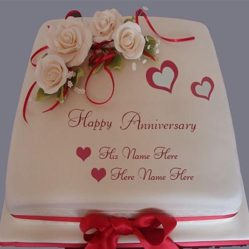 7 best Wedding anniversary cake images on Pinterest Happy