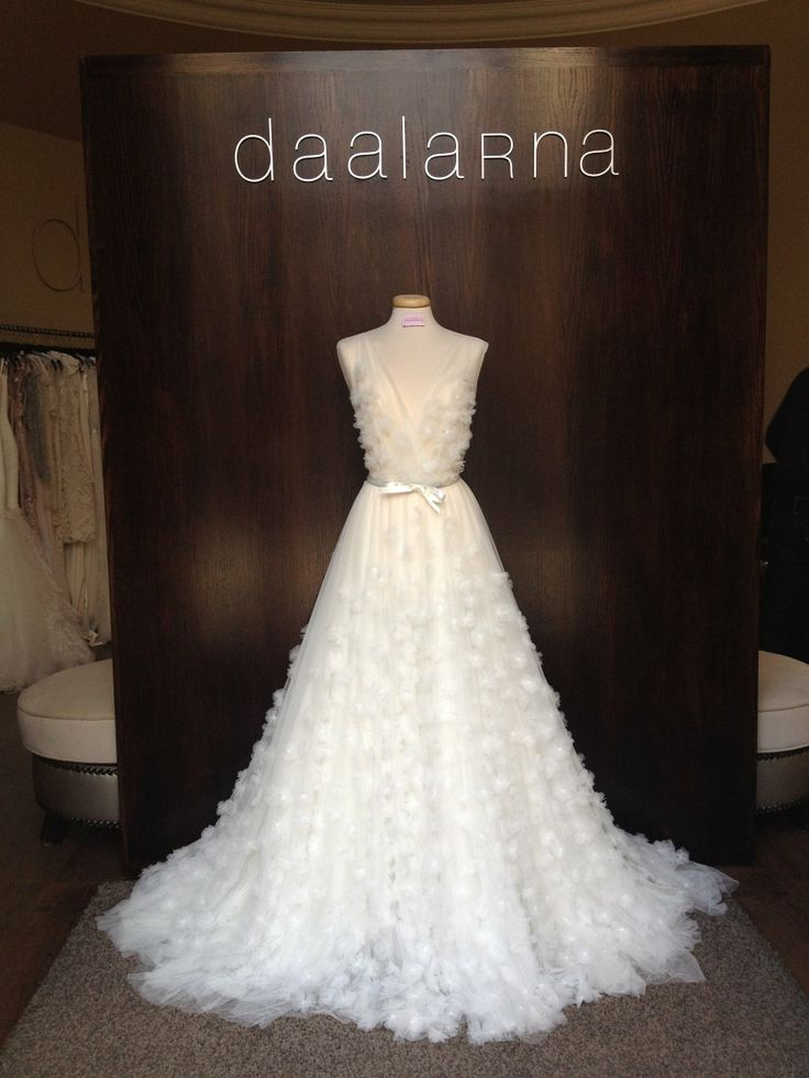 2014 April _ Daalarna Couture wedding dress decorated with small, tulle flowers