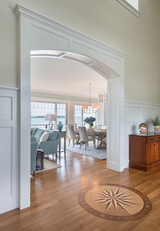 Compass Flooring. Foyer Compass Hardwood Flooring. Foyer Compass Flooring Design. Foyer Compass Ideas. #Foyer #Compass #Flooring Davitt Design Build, Inc. Nat Rea Photography.