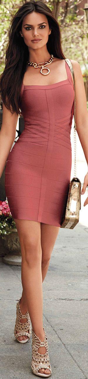 BEBE BASKETWEAVE BODYCON DRESS: Bebe August CATALOG 2014