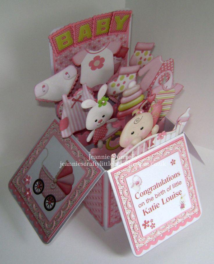 Card in a box - baby girl