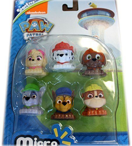 Paw Patrol Micro Lite Fash'ems Figure Set of 6 Toys