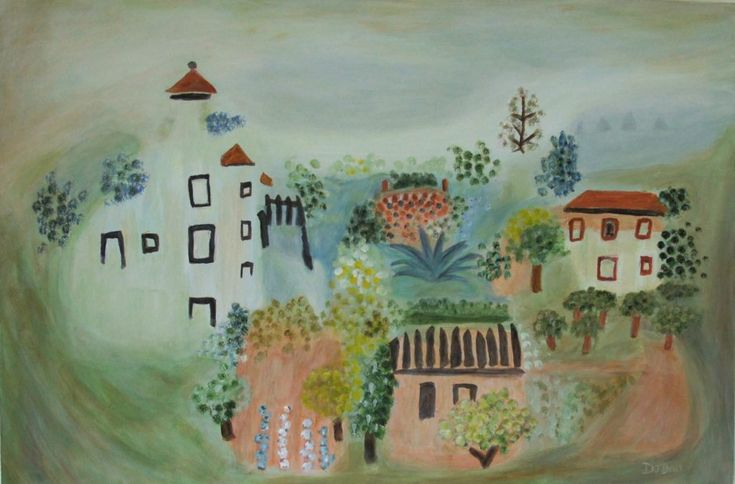 Summer Village Landscape, after Picasso