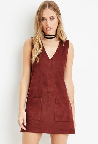 Faux Suede Shift Dress | Forever 21 - 2000180555 $27 omg need