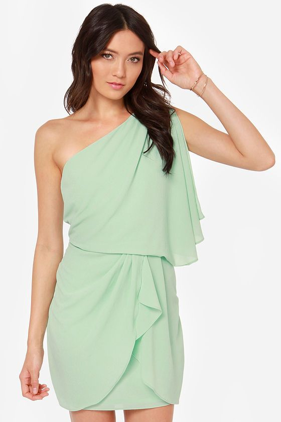 Is this considered a darker shade? Or should I look for something darker?    Gracefully Grecian One Shoulder Mint Dress at LuLus.com!