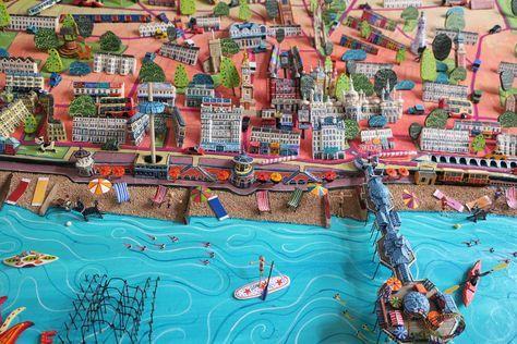 Sara Drake - Brighton Pier and Seafront - Map Detail - www.saradrake.com