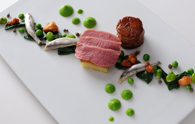 Celebrated chef Alan Murchison shares his recipe for lamb rump with anchovy, lamb sweetbreads and pea purée - a perfect springtime recipe