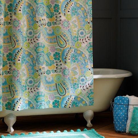 Paisley Pop Shower Curtain - Dark PoolPop Shower, Kids Bathroom, Girls Generation, Bathroom Shower Curtains, Colors, Dark Pools, Bathroom Ideas, Paisley Pop, Girls Bathroom