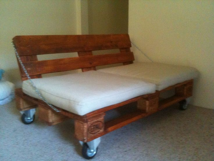 My Diy Euro Pallet Sofa On Industrial Caster Wheels With