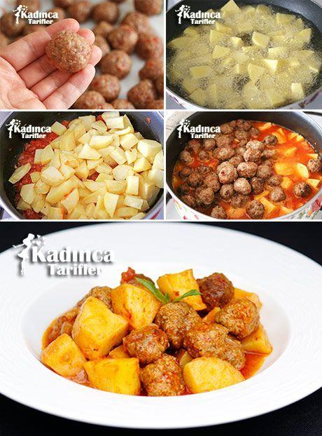 Misket Köfteli Patates Yemeği Tarifi