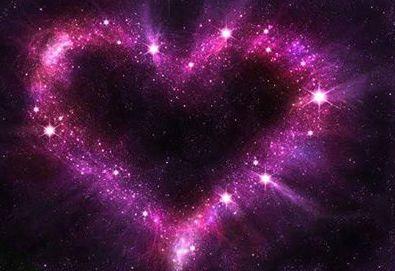 purple stars night time heart love it hearts
