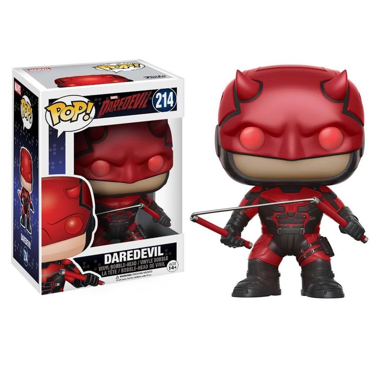 This is a Funko Marvel Daredevil POP Daredevil With Helmet Vinyl Figure that's produced by the good folks over at Funko. It's great to see Daredevil in Funko POP style. He looks awesome! Recommended A