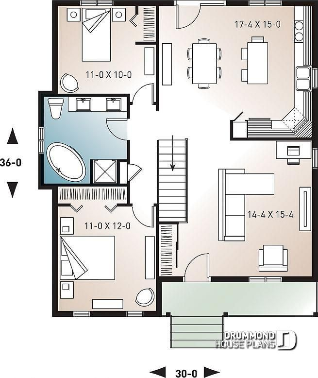 Discover The Plan 2171 Kara Which Will Please You For Its 2 Bedrooms And For Its Country Styles House Plans Building A Small Cabin Small Log Cabin Plans