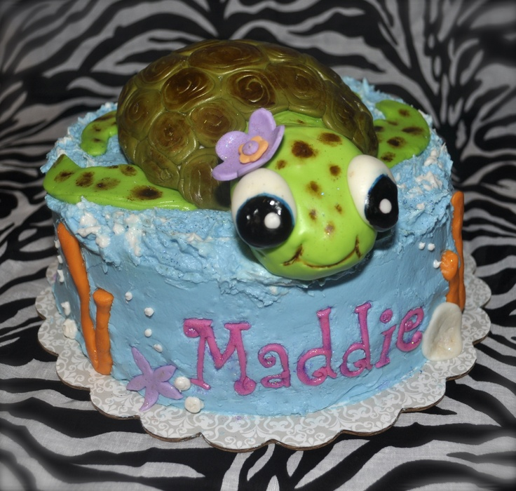 Sea turtle cake | Beach shower ideas | Pinterest | Sea turtles ...