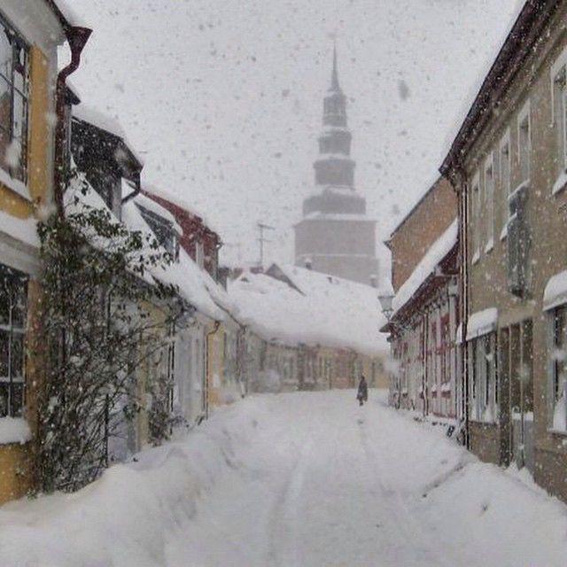 Vintermotiv #ystad #sweden #sverige #snow