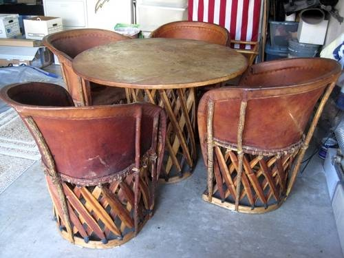 vintage Mexican Equipale pigskin leather table & chairs $500 - 17 Best Images About Equipales On Pinterest Villas, Chairs And