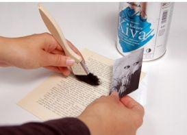 kuvan siirto akryylilakan avulla paperille, kankaalle...