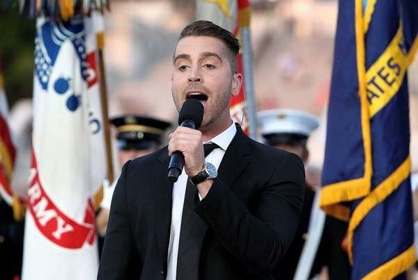 Nick Fradiani sings the national anthem on PBS's memorial day concert, 2015.