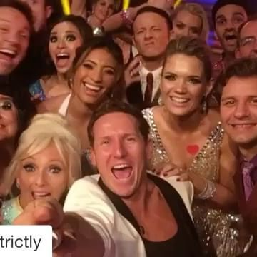 Here we go!! #Repost @bbcstrictly Dress run done! ✅Tonight's #Strictly is going to be incredible. Make sure you register to vote here 👉 http://www.bbc.co.uk/strictly ‬🙌🏻