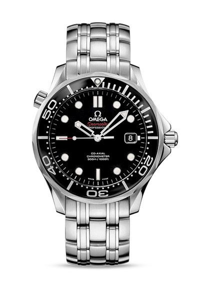 OMEGA Seamaster 300m Chronometer - Black Dial http://www.thesterlingsilver.com/product/skagen-mens-wrist-watch-233xlttn/