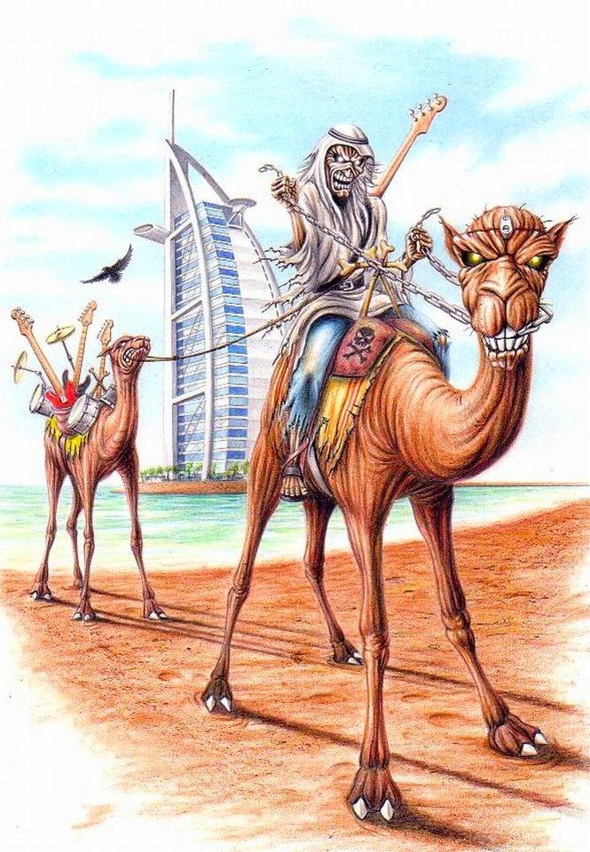 Eddie em Dubai! Ilustração: Herve Monjeaud