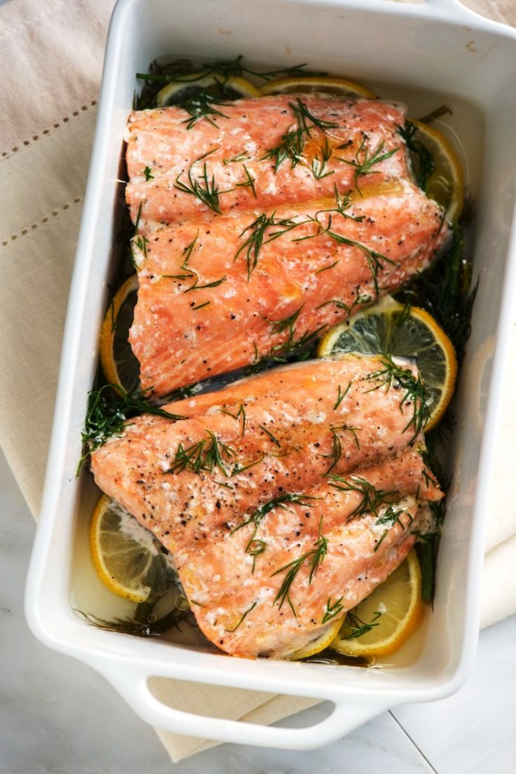 Top ten wild salmon recipes, including: Spice rubbed wild salmon fillet; Salmon, thyme and leek tart; Moroccan salmon; Baked lemon salmon; Rosemary and garlic roasted salmon; and Honey glazed salmon with brown butter line sauce.  ♥