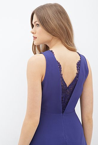 Cutout-Back Lace Dress | FOREVER21 - 2000120958