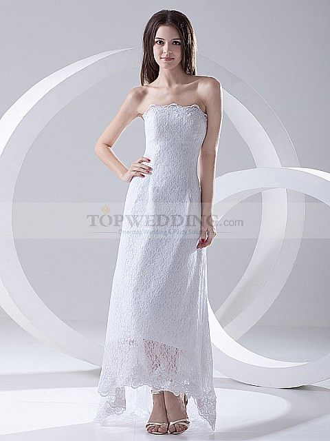 Discount Bridal Gowns Online - this is a nice simple satin sheath wedding gown.